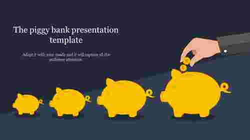bank presentation template-The piggy bank presentation template